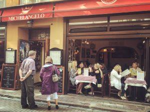 People eating in a restaurant, Gamla Stan, Stockholm, Sweden